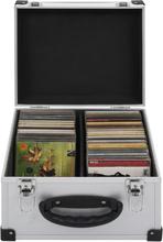 vidaXL CD-koffert for 40 CD-er aluminium ABS sølv