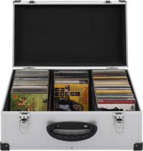 vidaXL CD-koffert for 60 CD-er aluminium ABS sølv