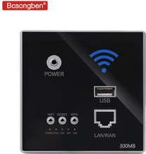Bcsongben 300Mbps 220V power AP Relay Smart Wireless WIFI repeater extender Wall Embedded 2.4Ghz Router Panel usb socket rj45