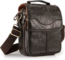"Quality Original Leather Male Casual Shoulder Messenger bag Cowhide Fashion Cross-body Bag 8"" Pad Tote Mochila Satchel bag 144"