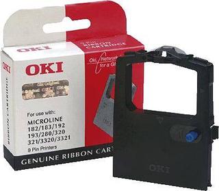 OKI Farvebånd 09002303 Original ML280 ML320 ML321 ML3320 ML3321 Passer til printere af mærket: OKI Sort 1 stk