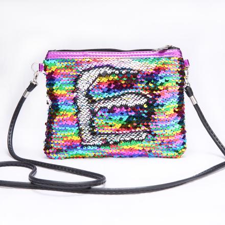 Children Mini Clutch Bag Sequins Color Change Coin Purse Handbags Kids Girls Crossbody Shoulder Bags Baby Messenger Bag Gift