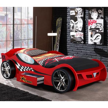 Racing bilseng rød -m/skuff