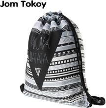 Hakuna matata Women geometric Backpack 3D printing travel softback women mochila drawstring bag mens backpacks