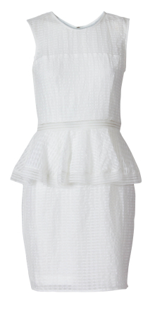 Designers Remix Keira Short Cream Dress 40