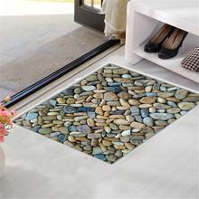 Stones Absorbent weichen Flanell Bad Boden Duschmatte Teppich rutschfeste Creativ