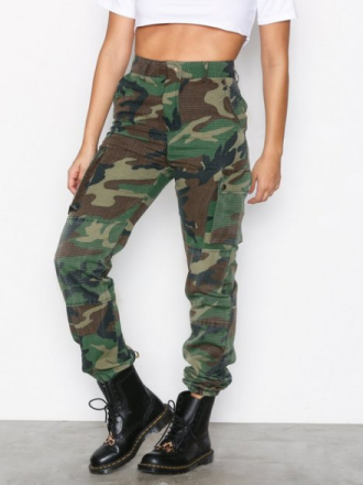 Missguided Printed Cargo Trousers Khaki