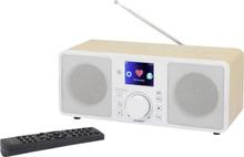 Internet-bordsradio Renkforce RF-IRDAB-RETRO1 DAB+, FM DLNA-kompatibel Trä
