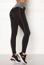 BUBBLEROOM SPORT Butt sport tights Black / Grey melange XS