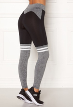 BUBBLEROOM SPORT Excite sport tights Grey melange / Black S
