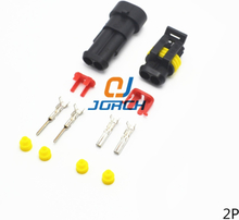 10 Sets Superseal AMP 2 Pin Female Male Waterproof Electrical Wire Cable Automotive Connector Car Plug 282080-1 282104-1