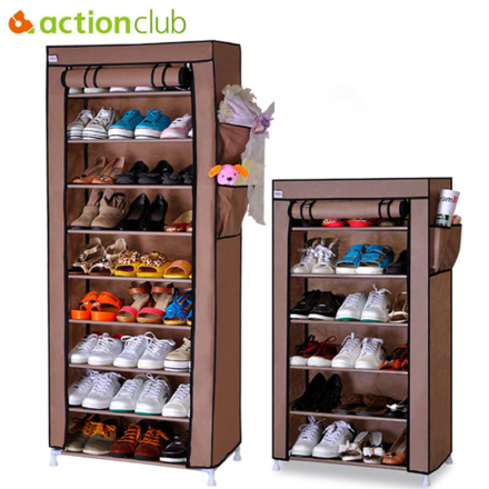 Actionclub Thick Non-woven Dustproof Shoe Cabinet DIY Assembly Storage Shoes Rack Shoe Organizer Shelves 10 Layers 7 Layers