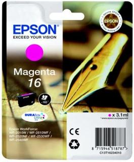 EPSON Bläckpatron magenta (Epson 16), 165 sidor T1623 Replace: N/AEPSON Bläckpatron magenta (Epson 16), 165 sidor