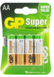 GP BATTERIES Batteri 1,5 V AA, Alkaliska (4-pack) 15A-U4 Replace: N/AGP BATTERIES Batteri 1,5 V AA, Alkaliska (4-pack)