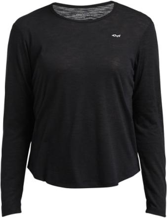 Sheer long sleeve top, Svart / XL
