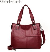 Leather Luxury Handbags Women Bags Designer Handbags Ladies Shoulder Hand Bags For Women 2019 Large Casual Tote Sac Bolsa Femini