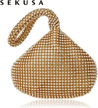 SEKUSA Soft Beaded Women Evening Bags Cover Open Style Lady Wedding Bridalmaid Handbags Purse Bag For New Year Gift Clutch