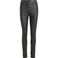 VILA Coated Leggings Kvinder Sort
