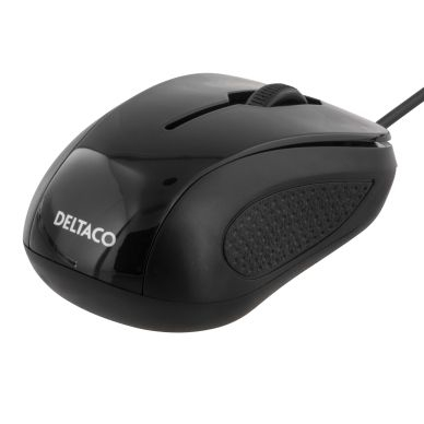 DELTACO Deltaco optisk mini-mus, 2 knapper med skroll, USB