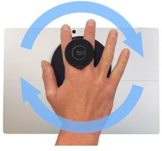 G-Hold Ergonomic Handhold for Microsoft Surface (Low-profile Velcro) /Black