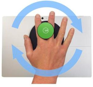 G-Hold Ergonomic Handhold for Microsoft Surface (Low-profile Velcro) /Green