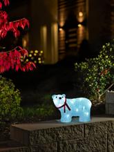 Konstsmide stående LED-isbjørn akryl