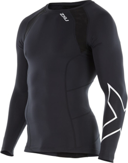 2XU Compression Long-Sleeve Top Herre langermede treningstrøyer Sort L