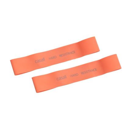 Casall Rubber Band Hard 2pcs träningsredskap Orange OneSize