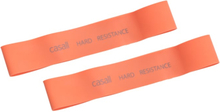 Casall Rubber Band Hard 2pcs träningsredskap Orange OneSize