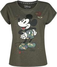 Mickey Mouse - Military -T-skjorte - khaki