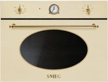 Smeg SF4800MP-60 cm Kompakt Mikrovågsugn Gräddfärgad Med Beslag I Guld