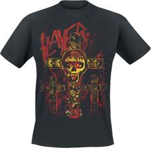 Slayer - Seasons Skull Cross -T-skjorte - svart
