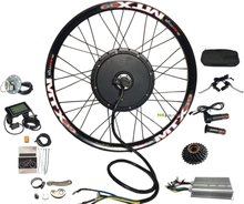 """80KM/H Rear wheel Motor,20"""" 24'' 26"""" 27.5"""" 28"""" 29"""" 700C 72V 3000W Electric Bicycle Conversion Kit , 60A Controller"""