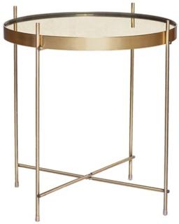 Hübsch Bord, rund, guld, metal/spejl Hübsch