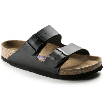 Birkenstock Arizona Birko-Flor Soft Footbed Regular Unisex Sandaler Svart 46