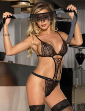 Charming Black Sheer Lace Teddy Lingerie