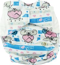 Mommy Mouse - Komplettwindel (AIO) - Newborn (2,5-7 kg) - My Sweetheart - Druckknöpfe (Druckies)