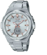 Casio Baby-G G-MS MSG-S200D-7A Standard Anglog-Digitaluhr - Silber