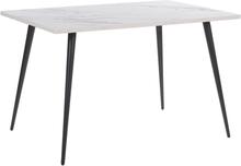 Ruokapöytä valkomusta 120 x 80 cm SANTIAGO