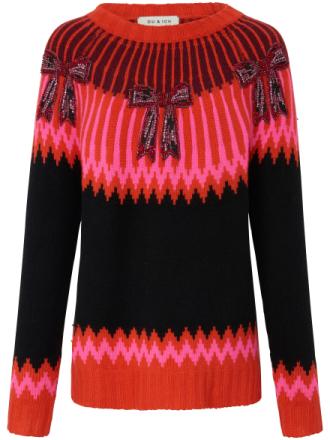 Rundhalsad tröja från Zaubermasche mångfärgad