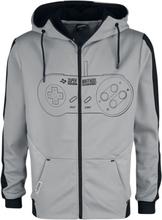 Nintendo - SNES - Super Nintendo Entertainment System - Controller -Hettejakke - svart, hvit