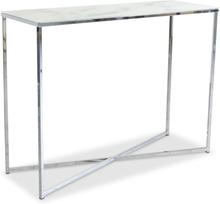 Palasso konsolbord - Krom / Ljus marmorering