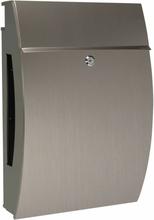 Perel Brevlåda NYC rostfritt stål silver BG11003