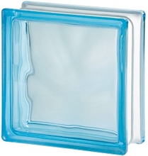 Glasbetong Glasblock Seves Basic Ljusblå