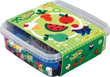 HAMA Beads - Maxi - 600 beads and 1 pegboard in box - Green (8740)