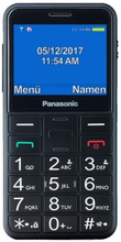 Mobiltelefon för seniorer Panasonic Corp. KX-TU150 TFT LCD Dual SIM Svart