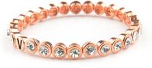 VÅGA smycken, strassarmband, Shine rose