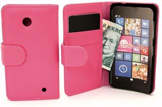 Plånboksfodral Nokia Lumia 630/635 (Hotpink)