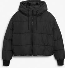 Cropped puffer jacket - Black
