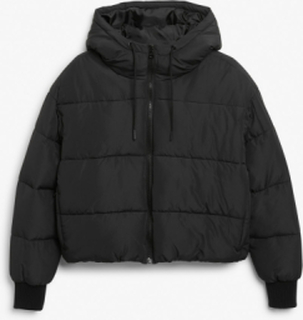 Cropped puffer jacket - Black
